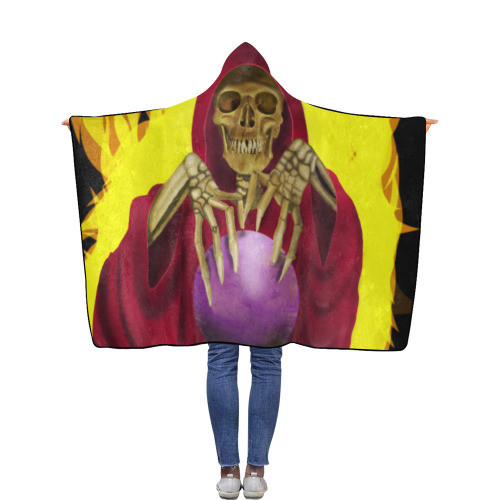 Death Fortune Flannel Hooded Blanket