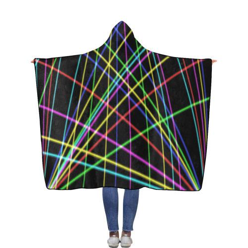 Neon Flannel Hooded Blanket