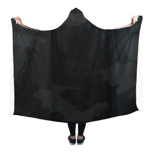 Black Camo Hooded Blanket