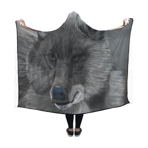 Wolf Moon Hooded Blanket