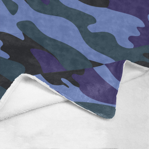 Blue Camo Ultrasoft Micro Fleece Blanket