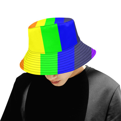 Rainbow Bucket Hat For Men