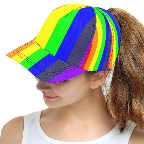 Rainbow Mess Snapback Cap (7-Piece stitching)
