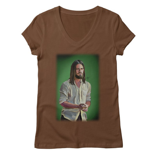 Jesus Womens V-Neck Tee