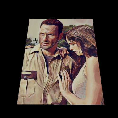 Rick & Lori Metal/Canvas Print