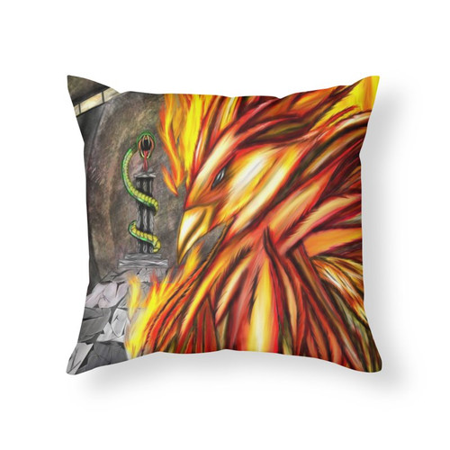Fawke's Fire Throw Pillow
