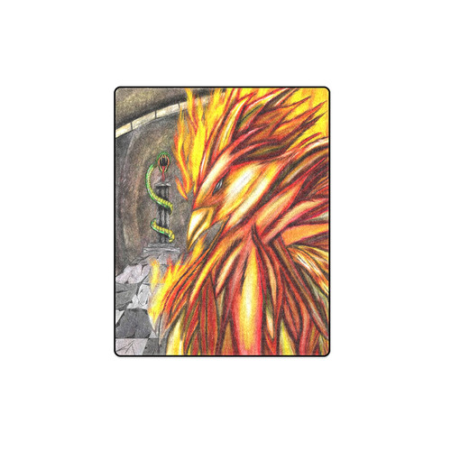 Fawke's Fire Fleece/Sherpa Blanket