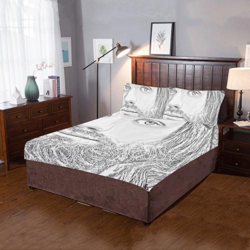 Jesus Graphite Bedding Set