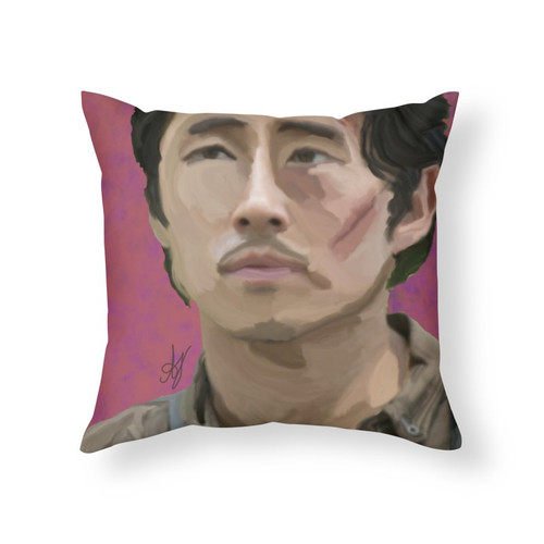 Glenn Rhee Throw Pillow