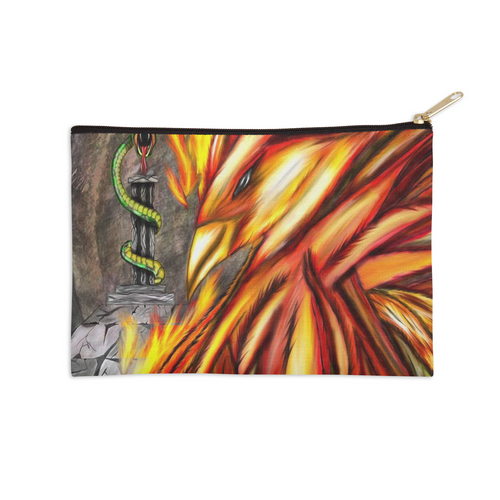 Fawkes Fire Zip Pouch