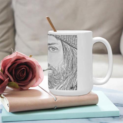 Jesus Graphite Ceramic Mug
