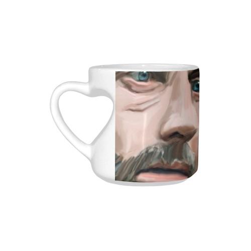 Rick & Negan Heart-Shaped Handle Mug