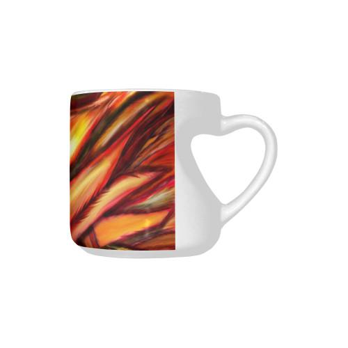 Fawkes Fire Heart-Shaped Handle Mug