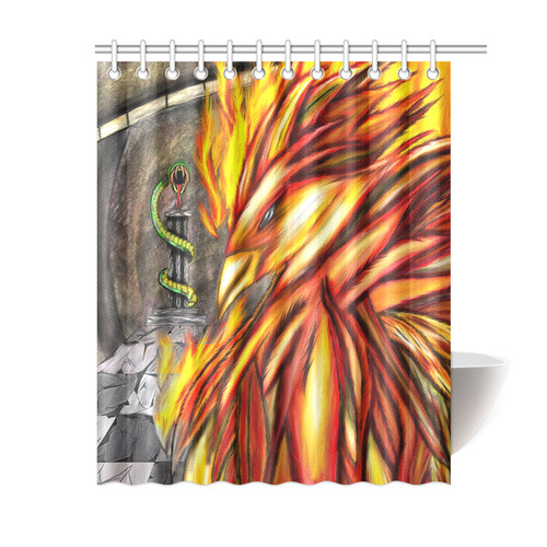 Fawkes Fire Shower Curtain
