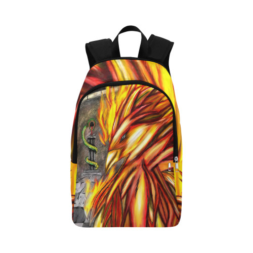 Fawkes Fire Fabric Adult Backpack