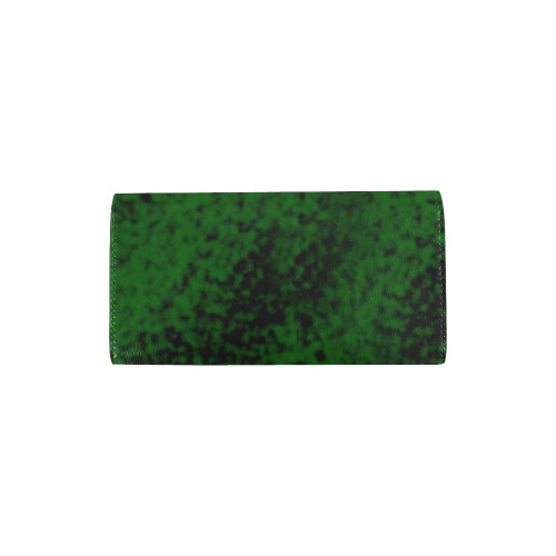 Green Speck Trifold Wallet