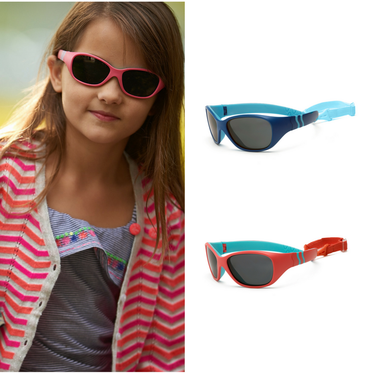 7a35606bd93 Real Kids Shades MiGrocer - 4+ Kids ~ Adventure P2 – Royal Light Blue