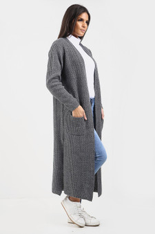 Maxi Boyfriend Cardigan - Charcoal Grey