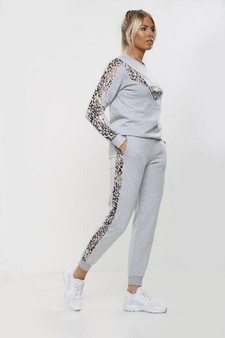 Leopard printed Coord Loungewear tracksuit