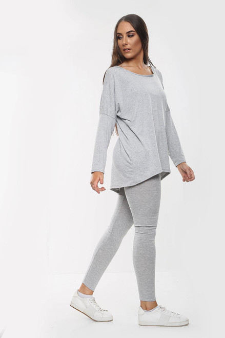 2 piece Loungewear Coord tracksuit set - Grey