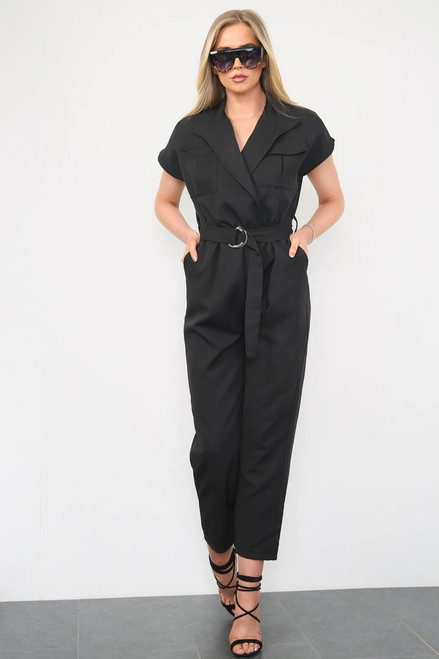 Utility Belted Jumpsuit