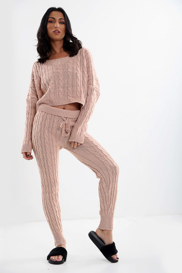 Simone 2 Piece Knitted Coord - Blush Pink