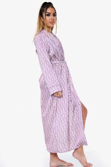 Satin Printed Maxi Dressing gown
