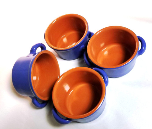 Set of Four Crocks / Casseroles Turchese (Turquoise)