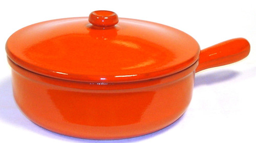 Piral 3.5 Quart Saucepan with Cover, Single Handle, Earthy Orange