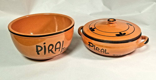 4 Qt Hand Painted Bowl & 1.5 2 handle Casserole w / lid Set                          ***Lid Fits Both Items as depicted***
