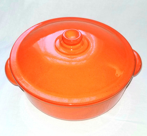 Piral 3.5 Quart  Saucepan, two handles with lid,  Earthy Orange