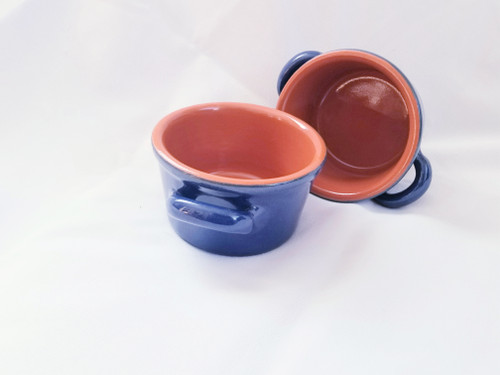 Piral Sky Blue Soup Crock...SET OF TWO