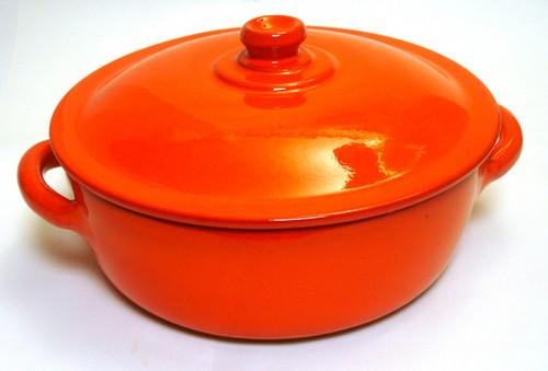 Piral Covered Casserole-Dutch Oven, 4.5 Quart,  Earthy Orange