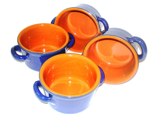 Piral Sky Blue Soup Crock...SET OF FOUR