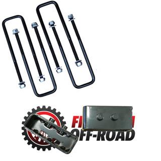 """2"""" Rear Lift Blocks w/ Extended U-Bolts #FO-F30120+FO-F404"""