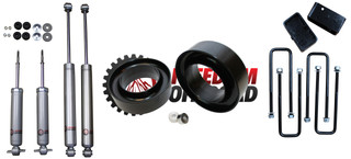 """3"""" Front / 2"""" Rear Blocks w/ U-Bolts Lift Leveling  Kit with Shocks #FO-G301F30+FO-U30120+FO-G403+FO-G301-RWD"""