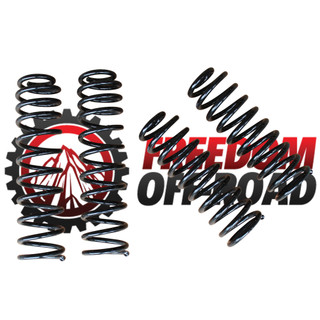 """2.5 (4DR) / 3.5"""" (2DR) Front & Rear Lift Springs #FO-J103F25+FO-J103R25"""