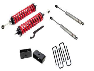 "1-4"" Lift Coilovers 3"" / Rear Blocks w/ U Bolts and Shocks #FO-T905-KIT"