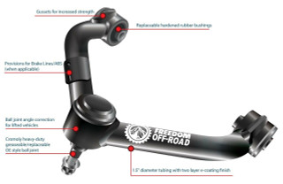 """Front Upper Control Arms for 2-4"""" Lift #FO-N704FU"""