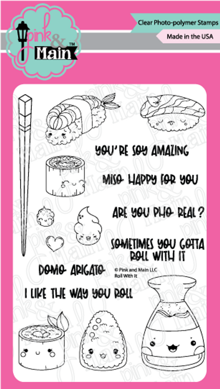 Pink and main Roll with it stamp set