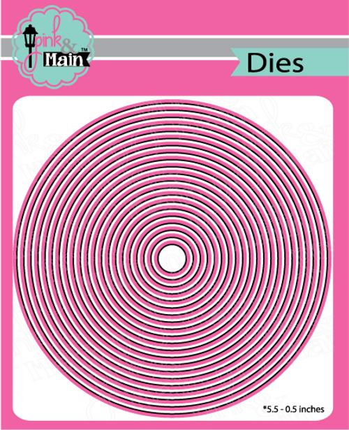 Pink and Main Layered Circle Dies