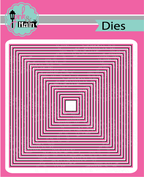 Pink and Main Layered Squares dies