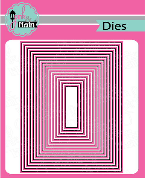 Pink and Main Layered Rectangle A2 Dies