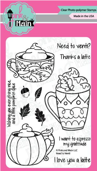 Pink and Main Need to Venti Stamp set