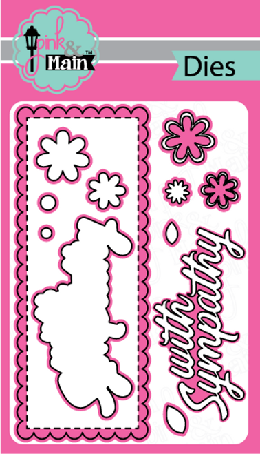 Pink and Main Sympathy Slimline dies