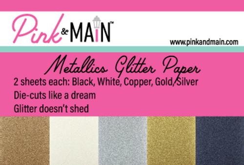 Metallics Glitter Paper Pack