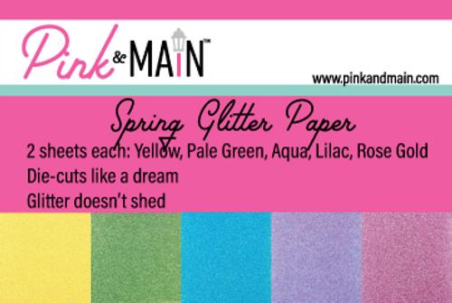 Spring Glitter Paper Pack