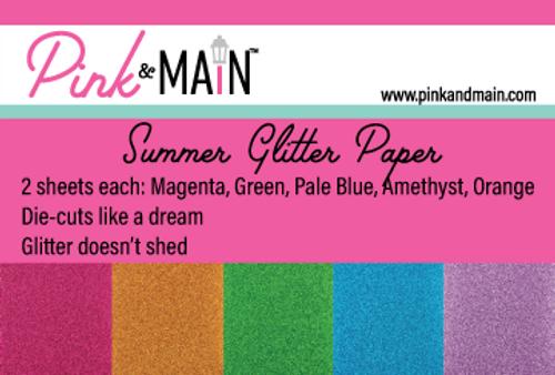 Summer Glitter Paper Pack