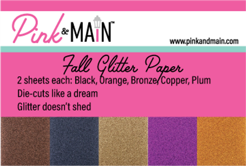Fall Glitter Paper Pack