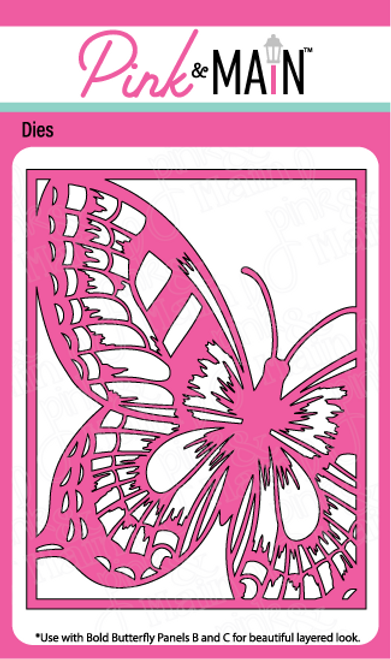 Bold Butterfly Cover Die Panel A